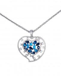 "Halskette ""Blue Heart"""