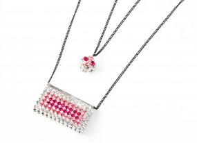 "Halskette ""Pink Cube"""
